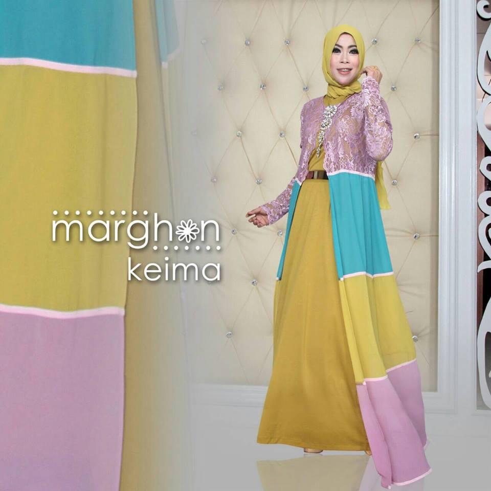 Keima Kuning Kunyit Baju Muslim Gamis Modern