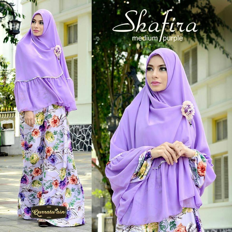 Shafira Medium Purple Baju Muslim Gamis Modern
