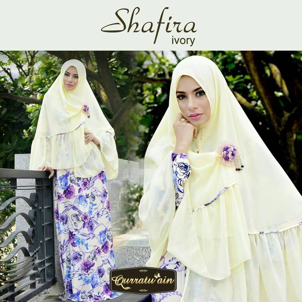 Shafira Ivory Baju Muslim Gamis Modern