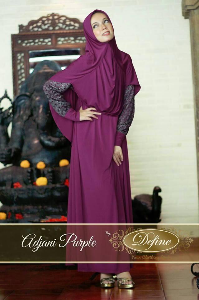 Adjani Purple Baju Muslim Gamis Modern