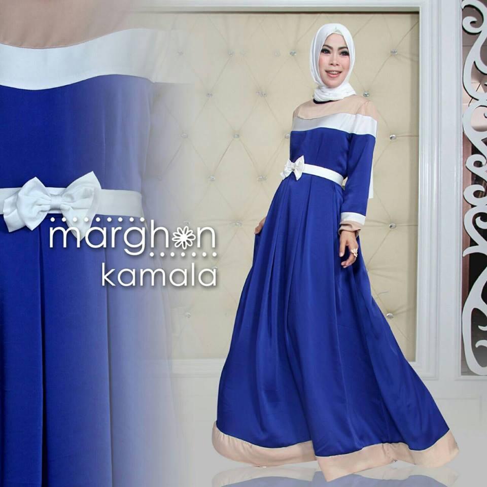 Kamala Biru E Baju Muslim Gamis Modern