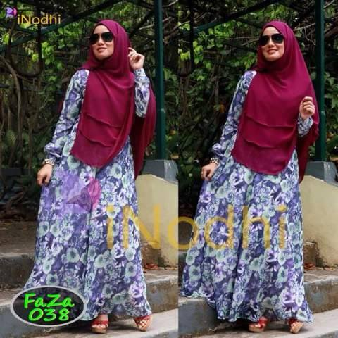 Faza 038 Baju Muslim Gamis Modern