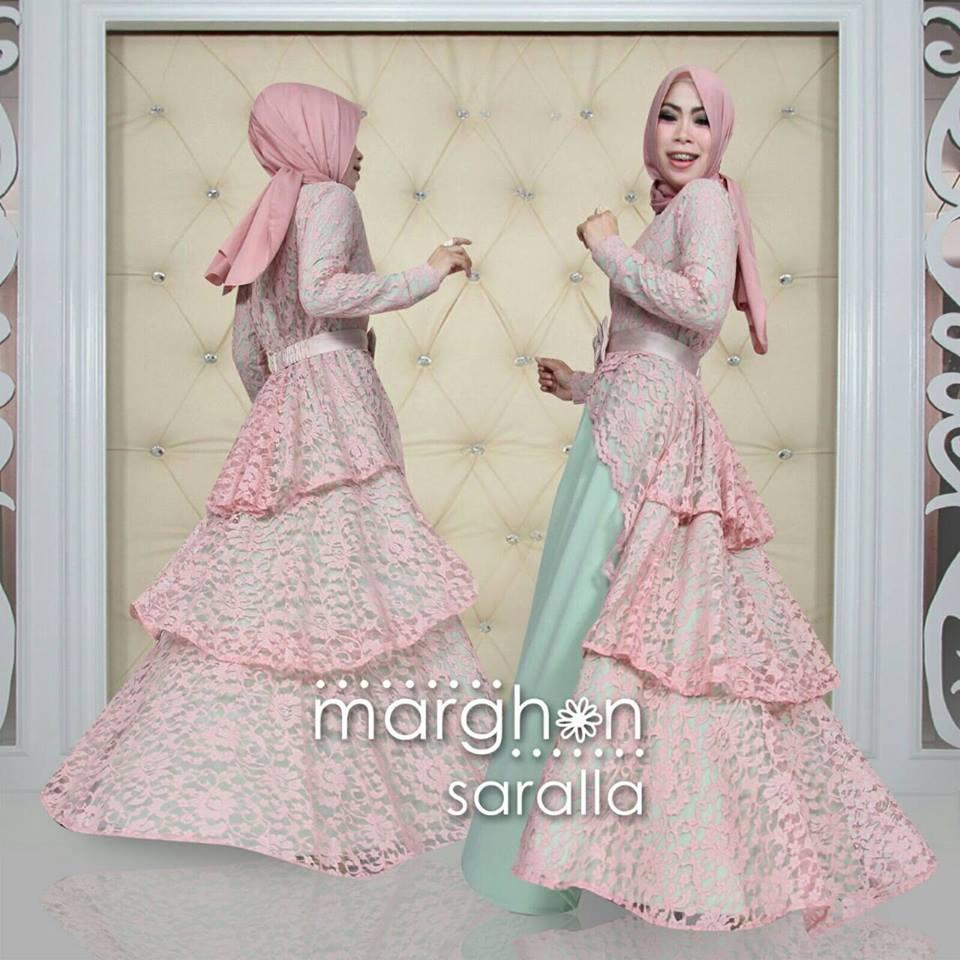 Saralla Mint Baju Muslim Gamis Modern
