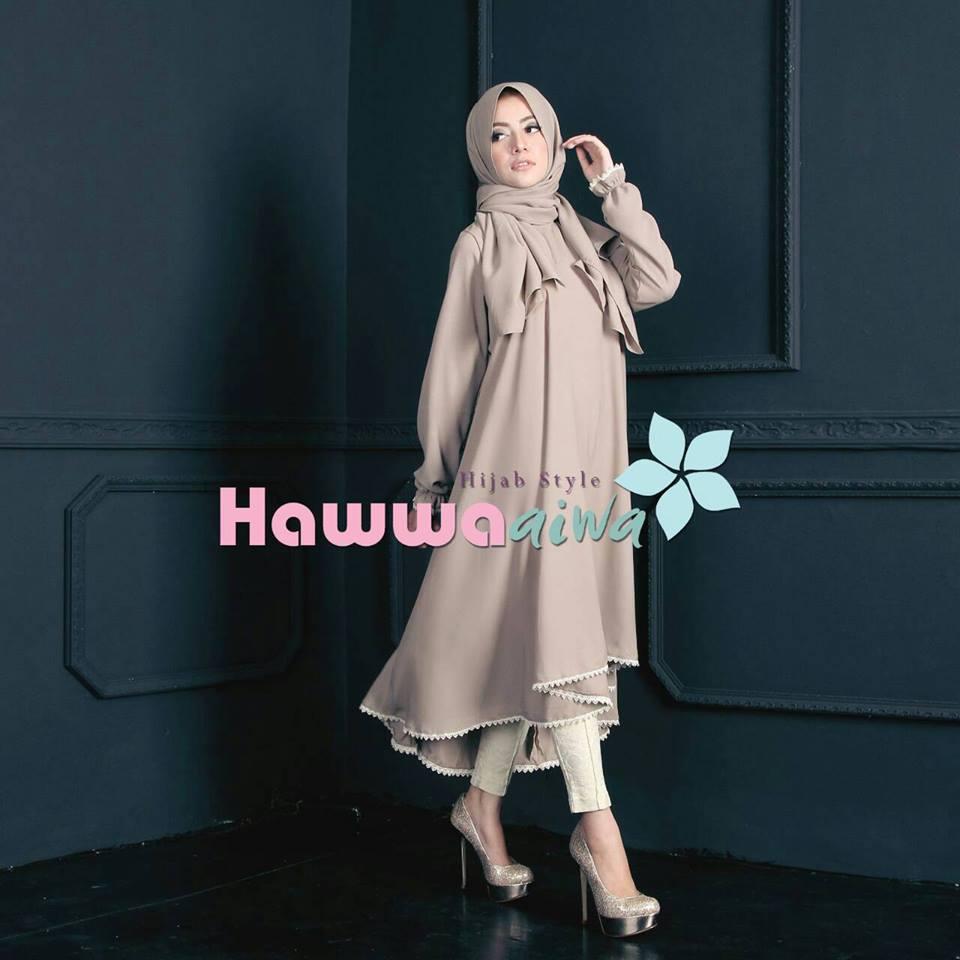 Shafira Tunik Brown Baju Muslim Gamis Modern