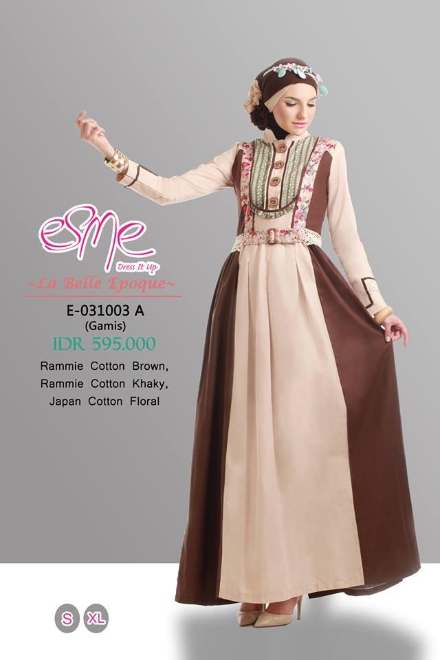 E 031003 A Baju Muslim Gamis Modern