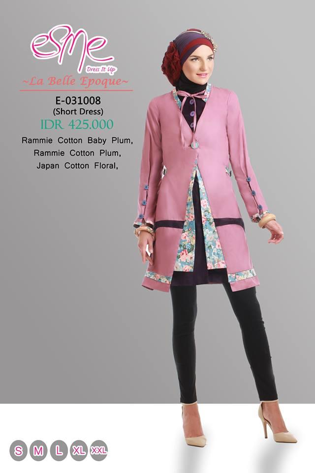 E 031008 Baju Muslim Gamis Modern