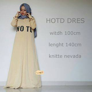 Hotd Dress Brown Baju Muslim Gamis Modern
