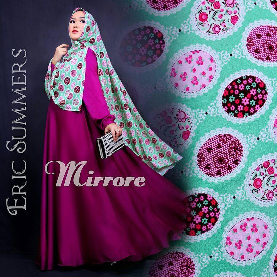 Mirrore Violet Baju Muslim Gamis Modern