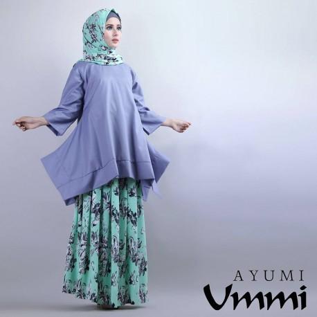 Ayumi Lavender Baju Muslim Gamis Modern