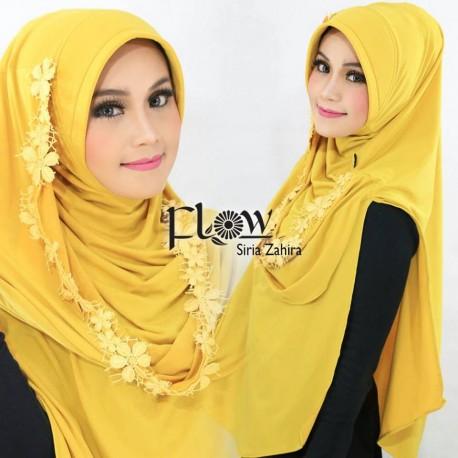 Siria Zahira Yellow Baju Muslim Gamis Modern