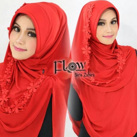 Siria Zahira Red Baju Muslim Gamis Modern