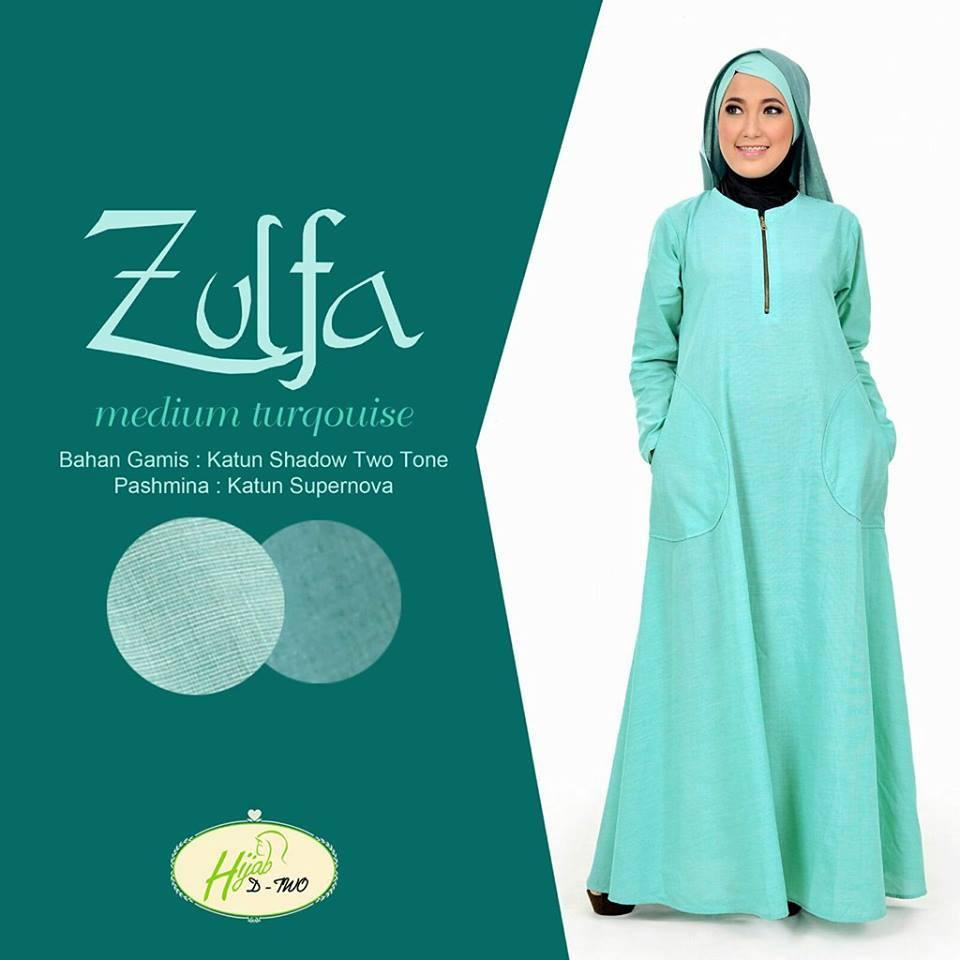 Zulfa Medium Turqouise   Baju Muslim GAMIS Modern