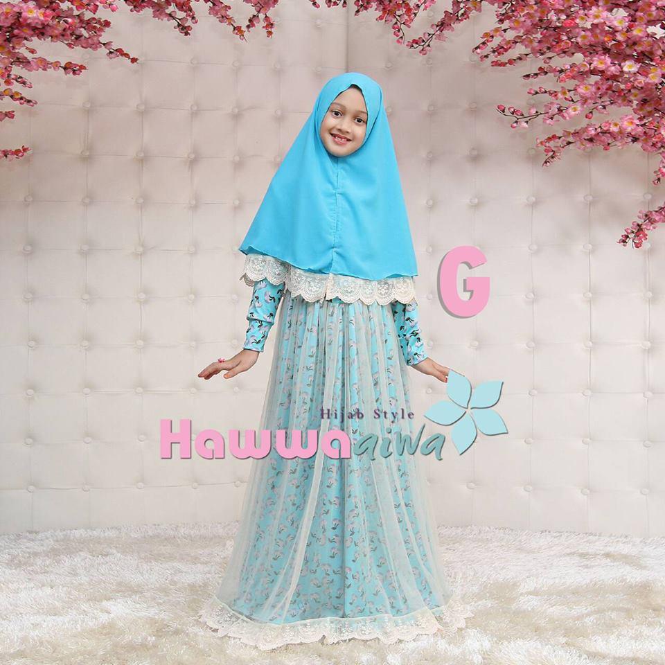 Elsa Kid G Baju Muslim Gamis Modern