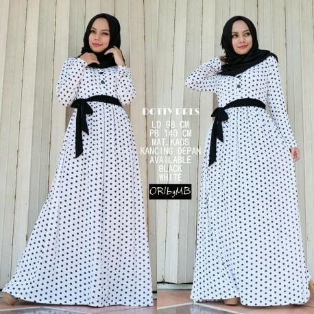 Doty White Baju Muslim Gamis Modern