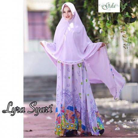 Lyra Purple Baju Muslim Gamis Modern