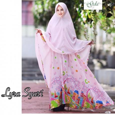 Lyra Pink Baju Muslim Gamis Modern