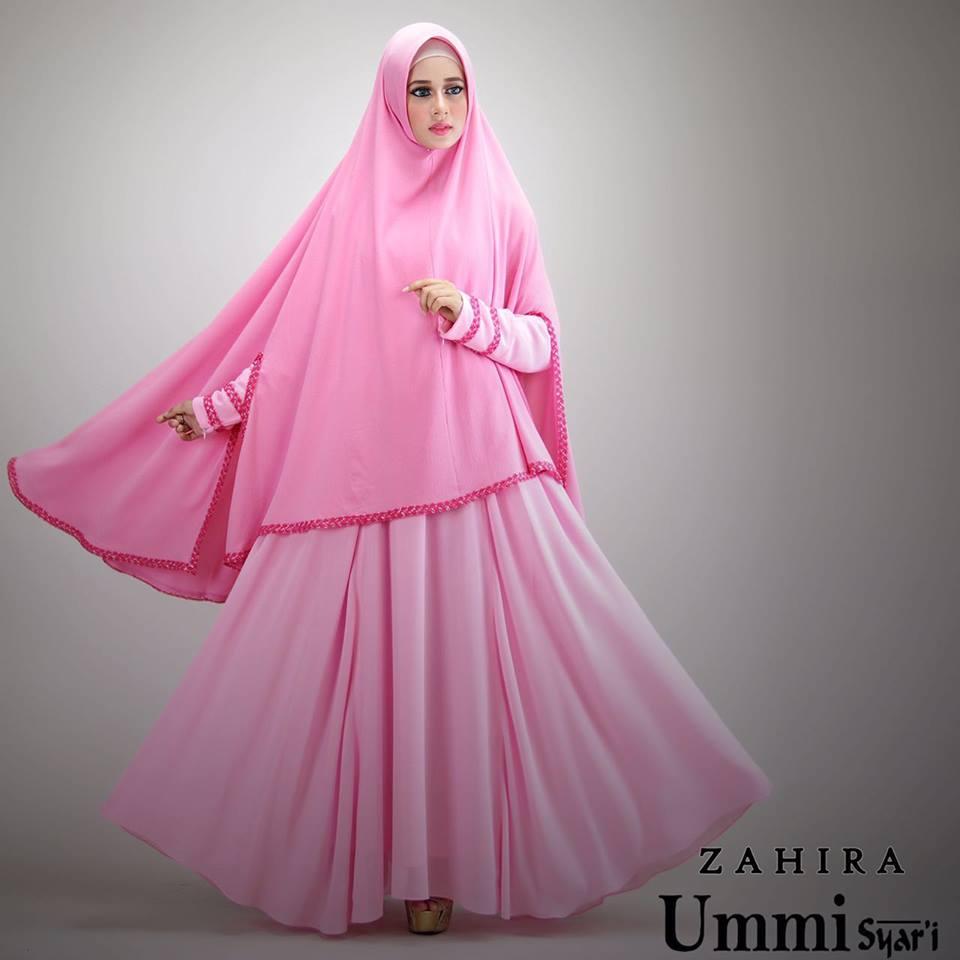 Zahira Pink Baju Muslim Gamis Modern