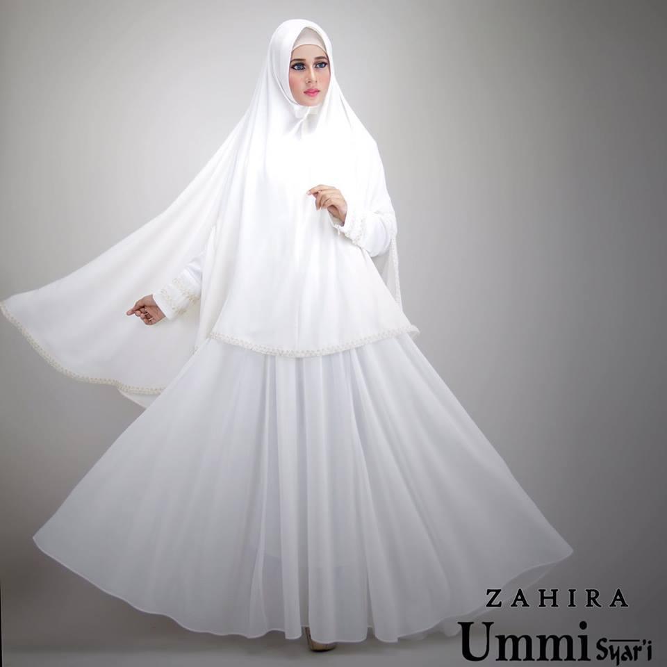 Zahira Broken White Baju Muslim Gamis Modern