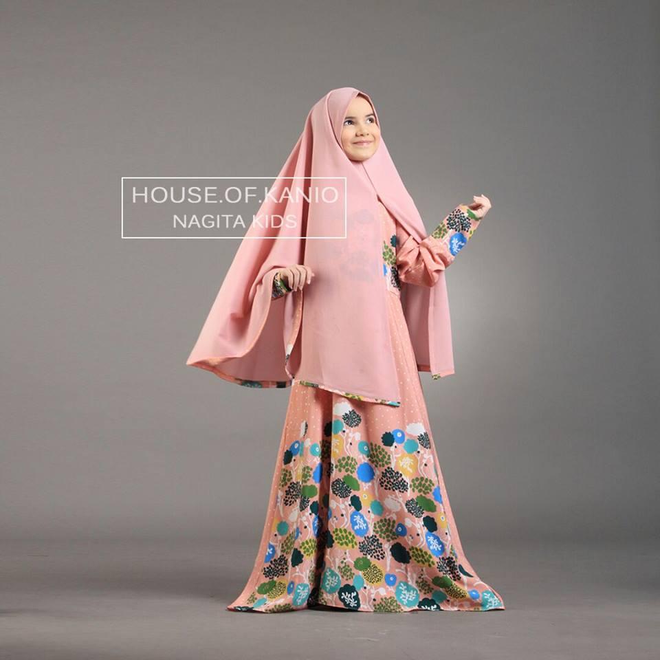 Nagita Kids D Pink Baju Muslim Gamis Modern