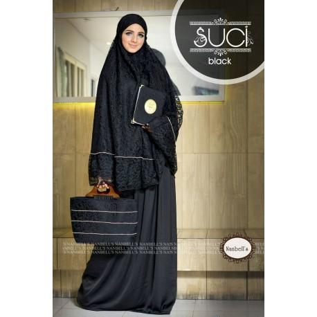 Suci Paket Black Baju Muslim Gamis Modern