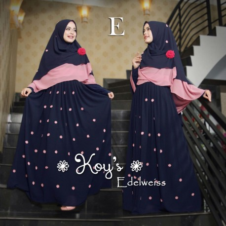 Edelweiss 3 E Baju Muslim Gamis Modern