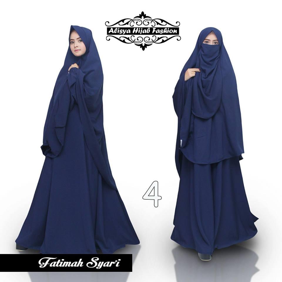 Fatimah 4 baju muslim gamis modern Baju gamis cadar