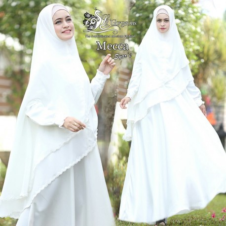 Mecca Haji White Baju Muslim Gamis Modern