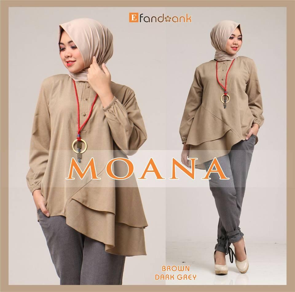Moana Brown Baju Muslim Gamis Modern 1 Setelan Hijab