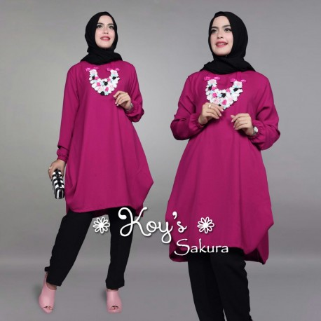 Sakura Violet Baju Muslim Gamis Modern