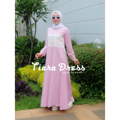 Tiara Pink Baju Muslim Gamis Modern