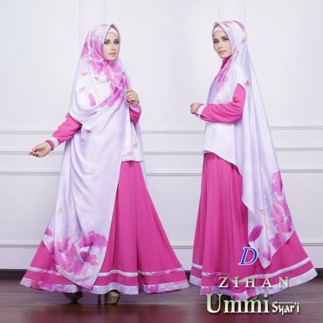Zihan D Baju Muslim Gamis Modern