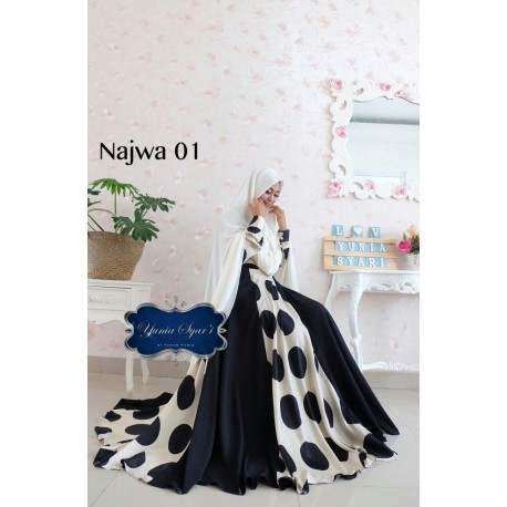Najwa 1 Baju Muslim Gamis Modern