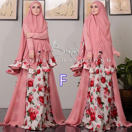 British F Baju Muslim Gamis Modern