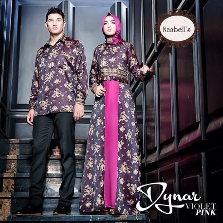 Dynar Violet Pink Baju Muslim Gamis Modern