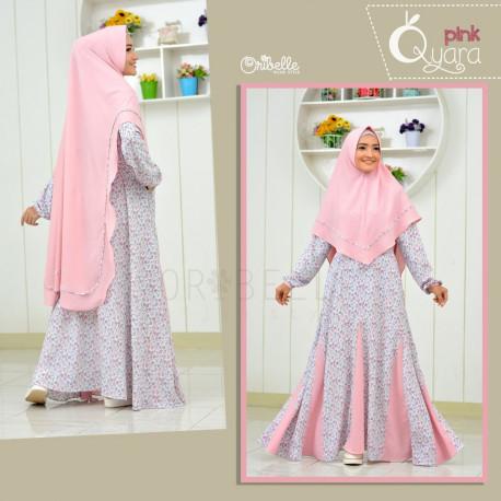 Qyara Pink Baju Muslim Gamis Modern