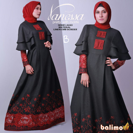 Vanessa 3 B Baju Muslim Gamis Modern