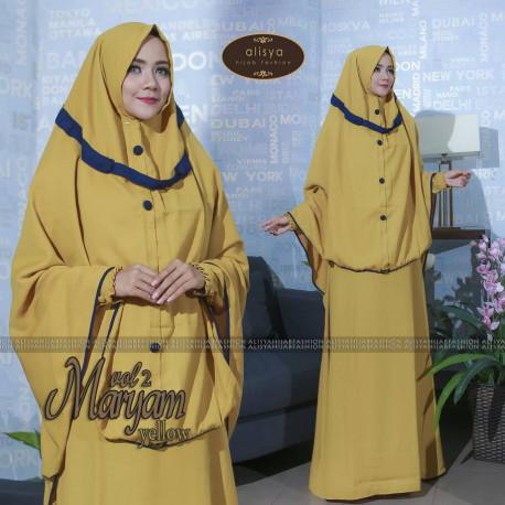 Maryam Yellow Baju Muslim Gamis Modern