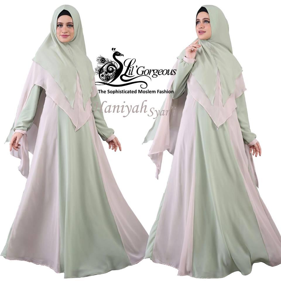 Busana muslim pesta Haniyah by Lil gorgeous mint