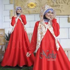 grosir baju muslim terbaru nasha by GDA red candy