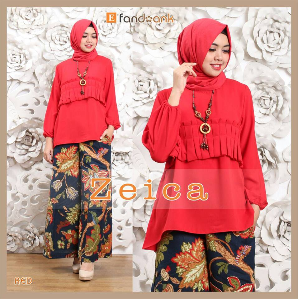 grosir busana muslim zeica by efandoank red