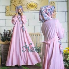 pusat baju muslim nasha by GDA baby pink