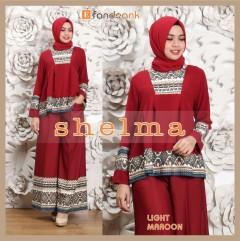 Model baju muslim shelma by efandoank light maroon