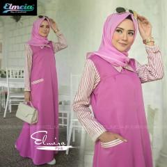 Baju muslim elmira by elmeia pink