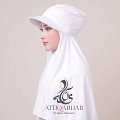 Hjiab style turtop by atika hijab white