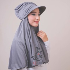 Jilbab turtop by atika hijab grey