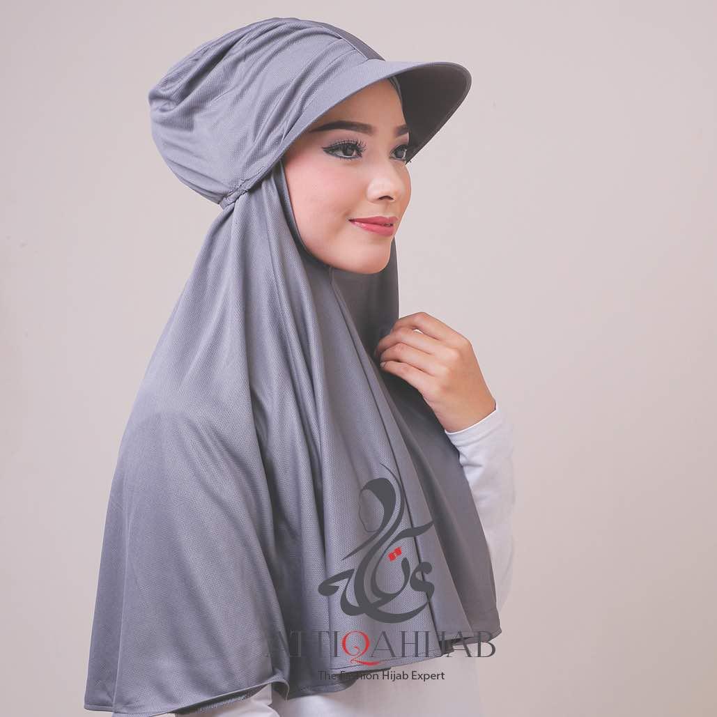 Jilbab turtop by atika hijab grey
