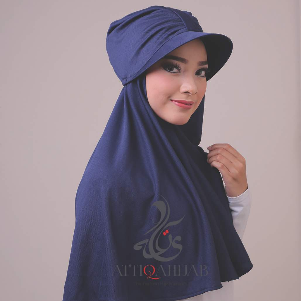 Model hijab terbaru turtop by atika hijab navy