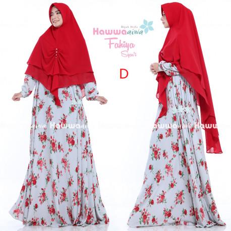 baju gamis fahiya gamis set by hawwaaiwa D