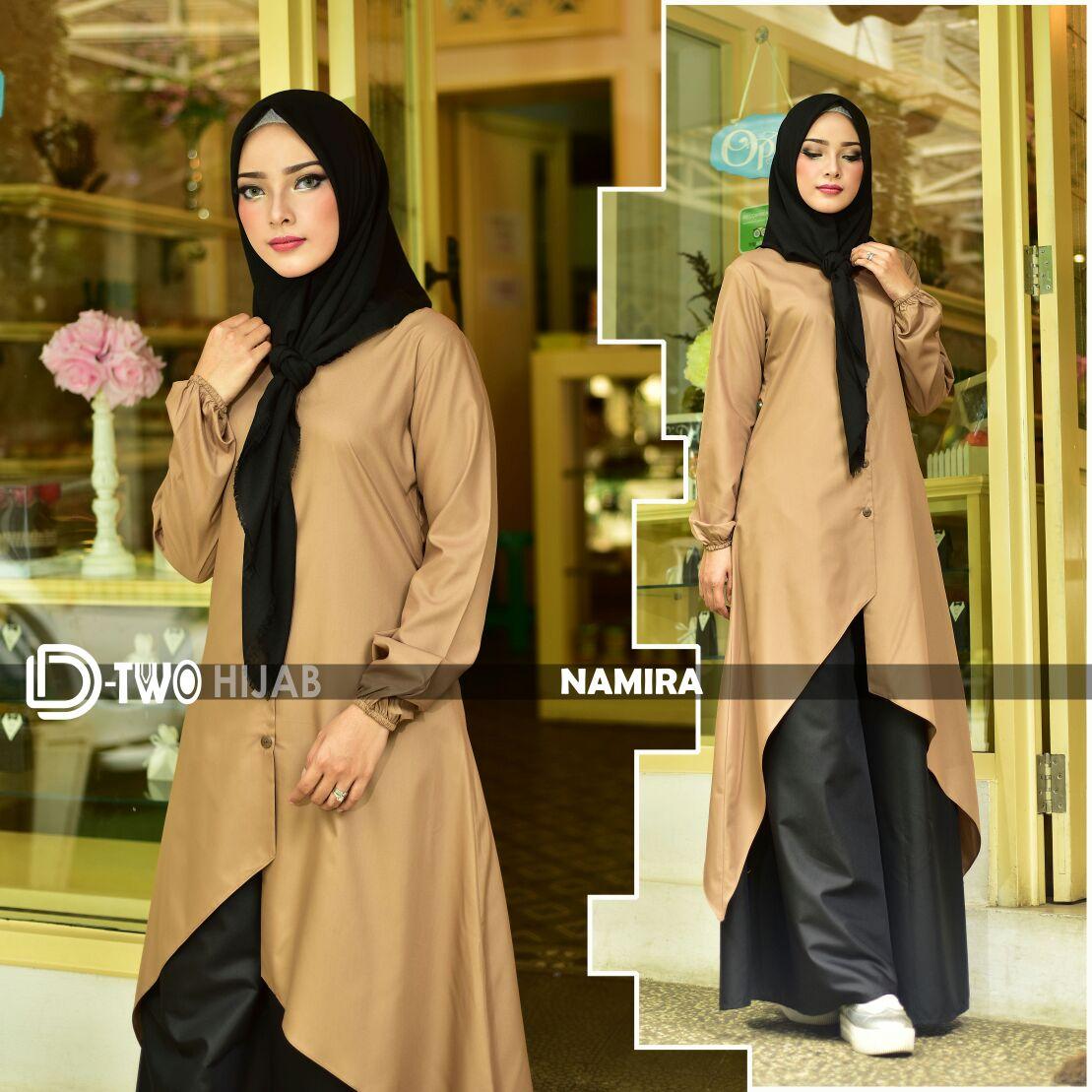 baju gamis namira by hijab d-two choco