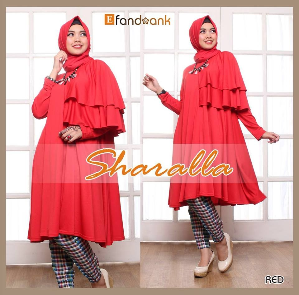 baju gamis sharalla by efandoank red